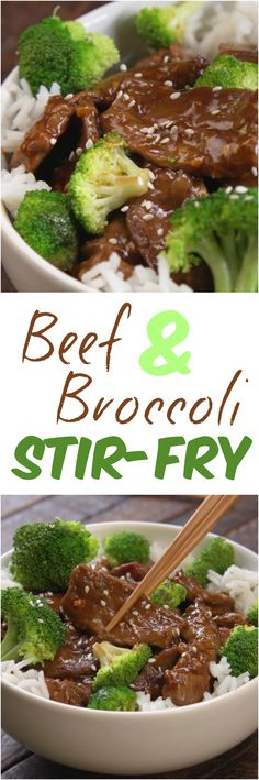 This quick and easy restaurant-style stir-fry will put your local takeout spot to shame: juicy steak bites and crisp-tender broccoli florets coated in an easy Chinese-inspired stir-fry sauce. (Paleo Beef And Broccoli) Asian Recipes, Beef Recipes, Cooking Recipes, Healthy Recipes, Asian Foods, Healthy Meals, Healthy Food, Paleo Dinner, Dinner Recipes