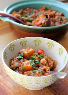 Butternut Squash, Chickpea & Lentil Moroccan Stew - Ambitious Kitchen