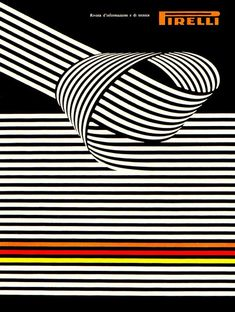 """Pirelli – Franco Grignani (1967) Cover of issue n. 3/1967 with detail of the painting """"Impatto strutturale"""" [structural impact]"""
