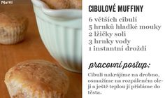 cibulové muffiny Hamburger, Bread, Cooking, Food, Kitchen, Kochen, Breads, Baking, Hamburgers