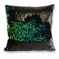 All Pillows : Two Tone Mermaid Sequin Pillow in Beetle Green Throw Pillows, Toss Pillows, Accent Pillows, Mermaid Home Decor, Sequin Crafts, Mermaid Room, Sequin Pillow, Mermaid Sequin, Green Home Decor