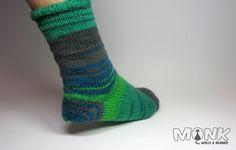 türkische Ferse, nachträglich eingestrickte Ferse, Socke ohne Ferse, Bandspitze, Socken stricken, stricken