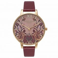 Autumn/Winter style is well and truly in bloom on the #oliviaburton website - check out this burgundy stunner!