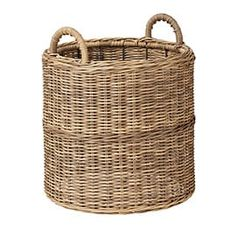 Large Seame Wicker Basket Indoor/Outdoor Planter – OKA