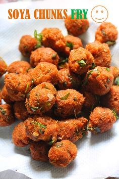 Soya Chunks are really a healthy way to include protein in your kids and your families diet. Here's a recipe of Soya chunk fry, it is healthy and tasty as well. Veg Recipes, Curry Recipes, Indian Food Recipes, Snack Recipes, Cooking Recipes, Healthy Recipes, Cooking Tips, Healthy Indian Snacks, Pakora Recipes