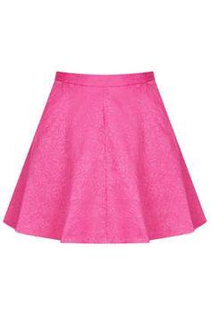 Jacquard full swing skirt, $70.