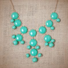 Turquoise Bubble Waterfall Necklace