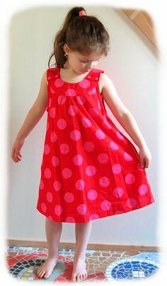 Kleid nähen, Anleitung einfaches Kinderkleid für Mädchen