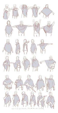 Drawing Reference Poses, Drawing Poses, Drawing Tips, Drawing Sketches, Art Drawings, Scarf Drawing, Sketching, Drawing Ideas, Anatomy Reference