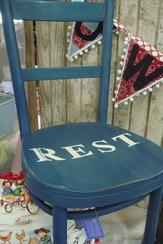 Whimsical Perspective - Painted Chair - Annie Sloan Chalk Paint