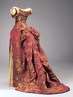 Charles Fredrick Worth, evening dress c.1885, sold to ACI by Vintage Textile.