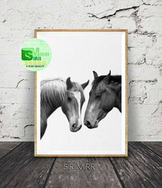 Horse Photography Black and White Photo Wall Art Print