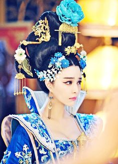 """Chinese actress Fan Bingbin, who played in the historical series """"Empress of China"""" the ruler Wu Zetian (Wu Zetian), which has actually ruled China for forty years since Hanfu, Oriental Fashion, Asian Fashion, Wu Zetian, The Empress Of China, Fan Bingbing, China Girl, Chinese Clothing, Historical Costume"""