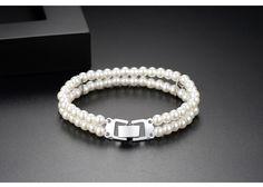 Alloy Fashion Geometric bracelet(Platinum 18cm-T14D04) NHTM0462-Platinum-18cm-T14D04