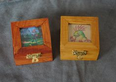 World of Warcraft inspired small wood w/ glass by DKKustomDesignz