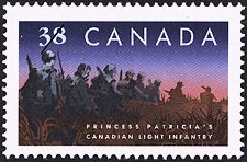 Canadian Postal Archives Database    Postal Administration: Canada     Title: Princess Patricia's Canadian Light Infantry     Denomination: 38¢     Date of Issue: 8 September 1989