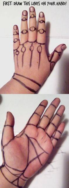BruneGonda how to make your own hands reference