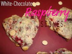 Dip it in Chocolate: White Chocolate Raspberry Scones