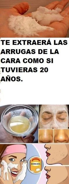 TE EXTRAERÁ LAS ARRUGAS DE LA CARA COMO SI TUVIERAS 20 AÑOS. Natural Beauty Tips, Diy Beauty, Beauty Hacks, Face Care, Body Care, Health And Nutrition, Health Tips, Homemade Beauty Recipes, Tips Belleza