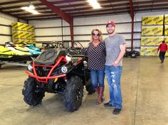Thanks to Tonya and Nathaniel Ford from Columbus MS for getting a 2016 Can-Am Outlander Xmr 570 at Hattiesburg Cycles