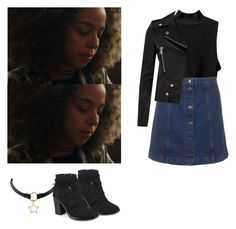 """Valerie Brown - Riverdale"" by shadyannon ❤ liked on Polyvore featuring Topshop, Yves Saint Laurent and Journee Collection"