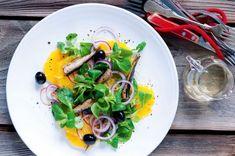 Pomerančový salát s cibulí a uzenými šproty Ramen, Ethnic Recipes, Food, Essen, Meals, Yemek, Eten