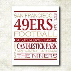 San Francisco 49ers Football Art Print by MelissaFlemingDesigns