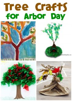 Make some beautiful tree crafts! A great activity to add to any Arbor or Earth Day units!
