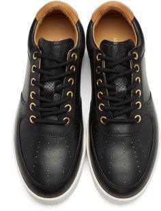 timeless design 298f8 4aa5c Aime Leon Dore - Black Leather Sneakers Aime Leon Dore, Black Leather  Sneakers, Louis
