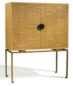 Mid-Century Oak Tall Cabinet
