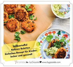 Blog - Rezepte für Kinder: Süßkartoffel-Bohnen-Burger   byGraziela