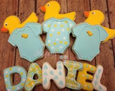 1 dozen CUSTOM Baby Shower cookies - view listing to see multiple examples by Magnificookies on Gourmly