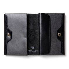 Postalco Black Pressed Cotton Card & Coin Wallet