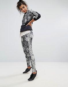 best website a3677 e7681 Adidas Farm Floral Placement Print Leggings Womens Leggings, Floral  Leggings, Printed Leggings, Asos