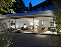 How a glass extension turned a traditional Thirties London terrace into an ultra-modern home 1930s House Extension, House Extension Design, Glass Extension, Extension Designs, Extension Ideas, Rear Extension, Extension Google, Bungalow Extension Plans, Porch Extension