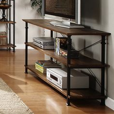 ETHAN HOME Myra Vintage Industrial Modern Rustic TV Stand | Overstock.com