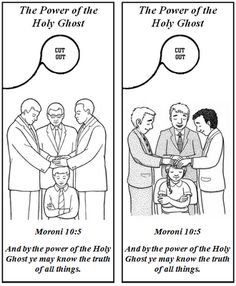 The holy ghost helps me know what is right can do this for Lds holy ghost coloring page