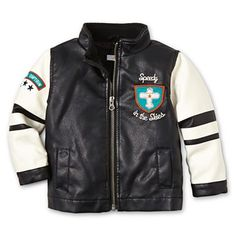 Joe Fresh™ Faux Leather Jacket - Boys 3m-24m - jcpenney