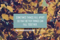 """Marilyn Monroe – """"Sometimes things fall apart"""" Quote"""