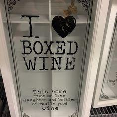 """""""Frågan är om man ska köpa den här med#vin#älskar#vit#förvaring#wine#love#white#box#svart#black#text#öb#inredning#interior"""""""