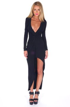 """""""Addicted to You"""" Side Knot Maxi Jersey Dress (3 colors available)"""