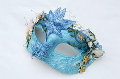 Couture Mask, Mermaid Masquerade Ball Mask, Sea Nymph mask, Starfish shell headpiece, Masquerade wedding, Art mask, OOAK mask