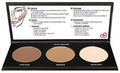 City Color Contour Effects TWO Beauty Contouring Cosmetic Bronzer Highlighting Makeup