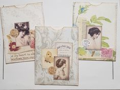 Ephemera Sewn Collaged Vintage Tag Pockets for Journals Heritage Scrapbooking, Scrapbooking Ideas, Journal Art, Junk Journal, Collage Ideas, Collage Art, Vintage Paper Crafts, Vintage Journals, Vintage Tags
