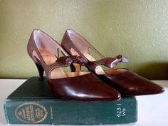 Vintage 1950s Brown Leather Josef du Val High by JenniFerociousInk, $65.00
