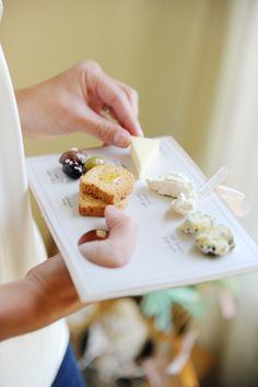 Cheese palette by Ritzy Bee Events on Martha Stewart's Bride Guide