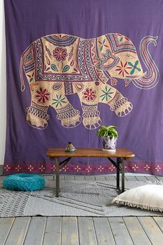 Magical Thinking Printed Elephant Tapestry - Urban Outfitters