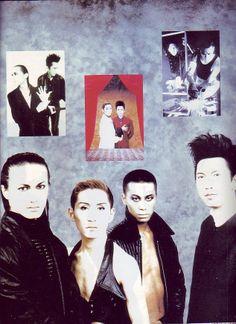 Japanese Electronic Music: Soft Ballet's Ryoichi Endo (遠藤遼一),Ken Morioka (森岡賢) & Maki Fujii (藤井麻輝) with Tomoyasu Hotei (布袋寅泰)-Pati Pati Magazine, 1993.