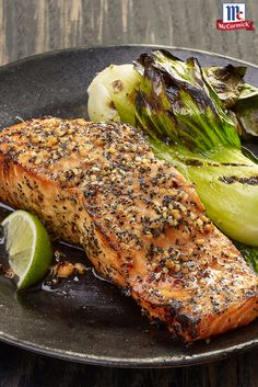 Start with an easy, homemade seafood marinade. End with perfection. This Malaysian-inspired grilled salmon recipe feels the heat from ginger and red and black pepper, balanced by tangy soy sauce and a pop of citrus from fresh lime. Add a side of grilled bok choy for one bold finish.