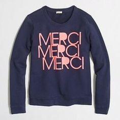 J. Crew Mercie Sweatshirt. So cute for the fall!